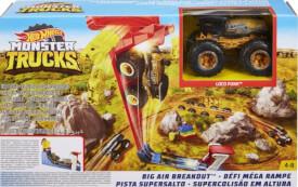 Mattel GCG00 Hot Wheels Monster Trucks Mega Sprung-Blaster + Fahrzeug