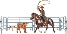 Schleich Farm World Western/ Rodeo - 41418 Team Roping mit Cowboy, ab 3 Jahre