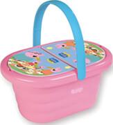 PEPPA PIG Picknick- Korb mit 3 Geschirrsets, rosa