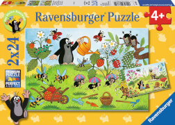 Ravensburger 088614 Puzzle: Der Maulwurf im Garten, 2x24 Teile