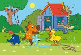 Schmidt Puzzle 56213 Die Maus, Viel Spaß mit der Maus, 3x48 Teile, ab 4 Jahre