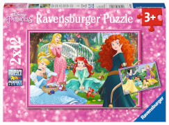 Ravensburger 07620 Puzzle In der Welt der Disney Prinzessinnen 2x12 Teile