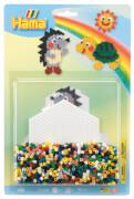 HAMA Bügelperlen Stiftplatten + Perlen Igel und Schildkröte 1.100 Stück
