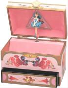 Spieldose Schublade Blumen, Ballerina  M